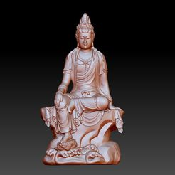 46guanyin1.jpg Download free OBJ file guanyin bodhisattva kwan-yin sculpture for cnc or 3d printer 46 • 3D print template, stlfilesfree