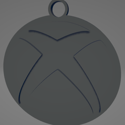 descarga.png Download STL file Xbox keychain - Xbox Keychain • 3D printable model, MartinAonL