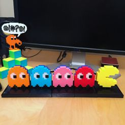 pacmanchaser2.jpg Download free STL file PACMAN CHASER Mechanical Toy • Object to 3D print, AliG3D
