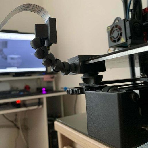 IMG_2590.JPG Download free STL file [Pi Cam] [Raspberry pi] Mount for bed • Template to 3D print, TAGinside