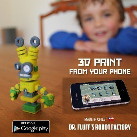 Ad.jpg Download free STL file Dr Fluff Robot, Tall Ted • 3D printing model, ThinkerThing
