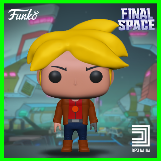 Gary-1.png Download STL file Gary - Final Space Funko Pop Netflix • 3D printable object, deslimjim