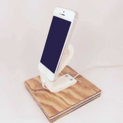 Capture_d__cran_2015-08-05___12.17.40.png Download free STL file The Ess, Apple Lightning Cord Charging Dock for iPhone 5/5S • 3D printing template, ShookIdeas