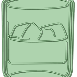 Vaso_e.png Download STL file Whisky glass 80 mm cookie cutter • 3D print design, osval74