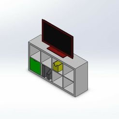 Screenshot_8.jpg Download STL file 1.6 Scale ikea kallax style tv unit full set. • 3D printer object, wamonuop