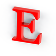 E.png Download free STL file Letras / abecedario completo • Object to 3D print, Lubal
