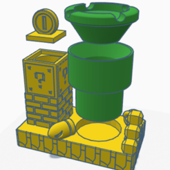 Captura.png Download STL file Super Mario Ashtray • 3D printing design, SVdesigns-3D