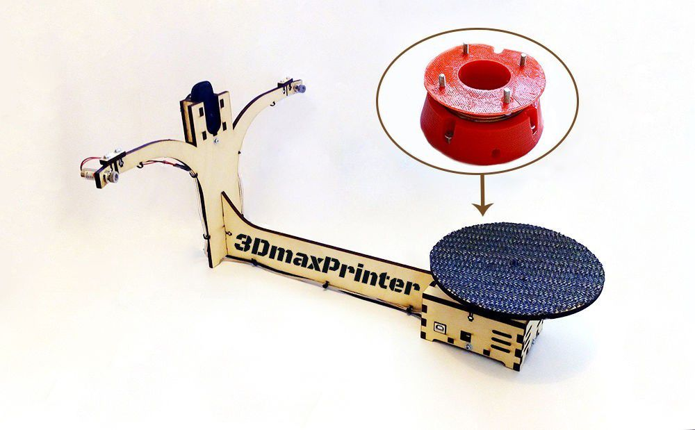 support_red.jpg Download free STL file Table support for 3D laser scanner Ciclop • 3D printing design, share4all
