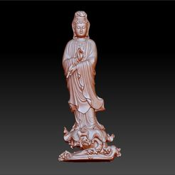 016guanyin1.jpg Download free OBJ file Guanyin bodhisattva Kwan-yin sculpture for cnc or 3d printer #016 • 3D printer design, stlfilesfree