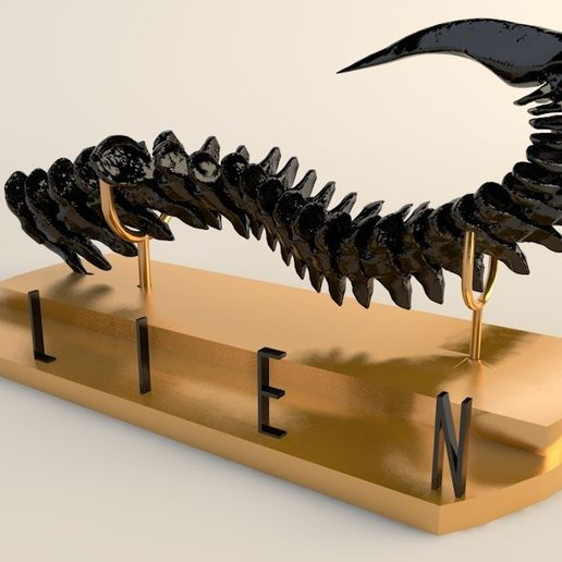 1.jpg Download STL file The tail of alien • 3D printable template, 3dsc
