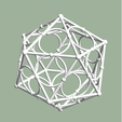 Screen Shot 2020-05-18 at 12.49.02 AM.png Download STL file Icosahedron with Midcircles • Template to 3D print, dansmath