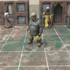 629ecdbbbdf4dc5589a708a4aad114b0_preview_featured.jpg Download free STL file Townsfolke: Oaf (28mm/Heroic scale) • Template to 3D print, Dutchmogul