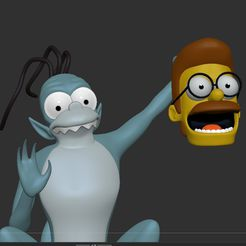 c1.jpg Download STL file The Simpsons Gremlin, treehouse of horror • 3D printing template, Municipal_Soldier