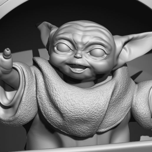 ZBrush ScreenGrab08.jpg Download STL file Baby Yoda  • 3D printable model, 3dbyalex