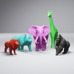 AfricanAnimalPack2-render.png Download STL file African Animal Collection #2 • 3D printable model, 3DSanctuary