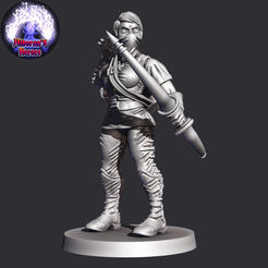 The Scout.png Download free STL file Sisterhood - The Scout • 3D printer object, Alborans_Heroes