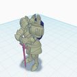 HiltRestFrontBack.png Download free STL file Warforged With Sword and Shield • 3D printing template, puffinpuffs