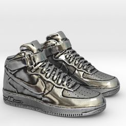 2.jpg Descargar archivo STL Zapatillas Nike Air Force 1 Finger • Modelo para imprimir en 3D, SpaceCadetDesigns