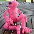 5.png Download free STL file Froggy: the 3D printed ball-jointed frog doll • Object to 3D print, loubie