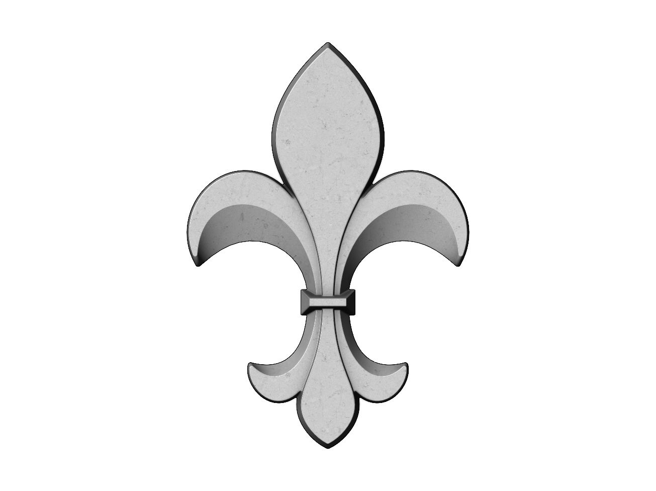 lys-V01-00.JPG Download 3MF file Heraldic lily onlay 3D relief 3D print mod • Model to 3D print, RachidSW