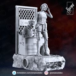 Instagram1.jpg Download STL file Jill Valentine Remake Dioram • 3D printer design, emanuelsko