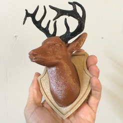 Capture d'écran 2016-12-13 à 11.38.08.png Download free STL file Deer Head 3 Piece remix • 3D printable design, Geoffro