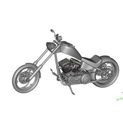 0a39711d1292506c986af3d248c29067_preview_featured.jpg Download free STL file Harley Chopper Motorcycle • Model to 3D print, maiersbus