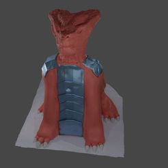 draček.JPG Download STL file Armored Dragon Bust/ Sculpture  • 3D printable template, Aboutexodma