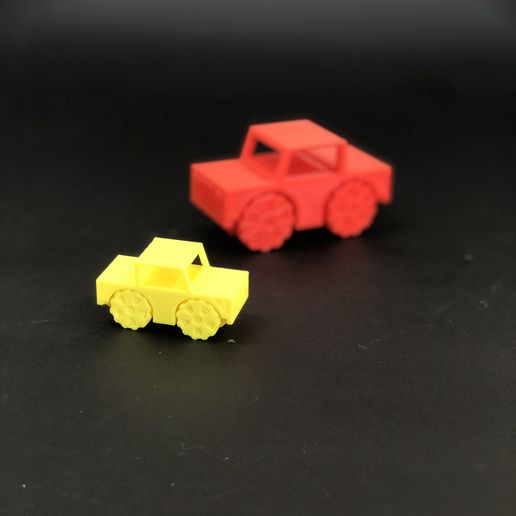 IMG_1111.jpg Download free STL file Little Jeep Car - PIP (Print In Place) without support • 3D printable template, uniduni3d