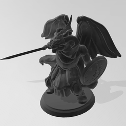 1.PNG Download free STL file Dragonborn, winged, combat ready (DND) • 3D printable design, idy26