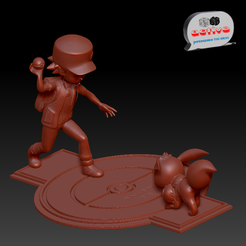 Red Catch Eevee 1.PNG Download STL file Pokemon Catch - Red. • 3D printing model, 3dactive