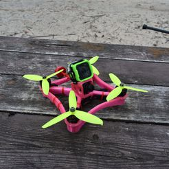 DSC_6751.JPG Download free STL file TPU FPV Drone Frame - Indestructible • 3D printable object, gvaskovsky