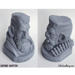 t2.jpg Descargar archivo STL gratis Zombie Hunter Head • Objeto imprimible en 3D, Sculptor