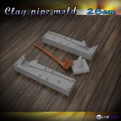 1.JPG Download STL file Mold to create clay pipe 28cm • 3D print model, LnZProd