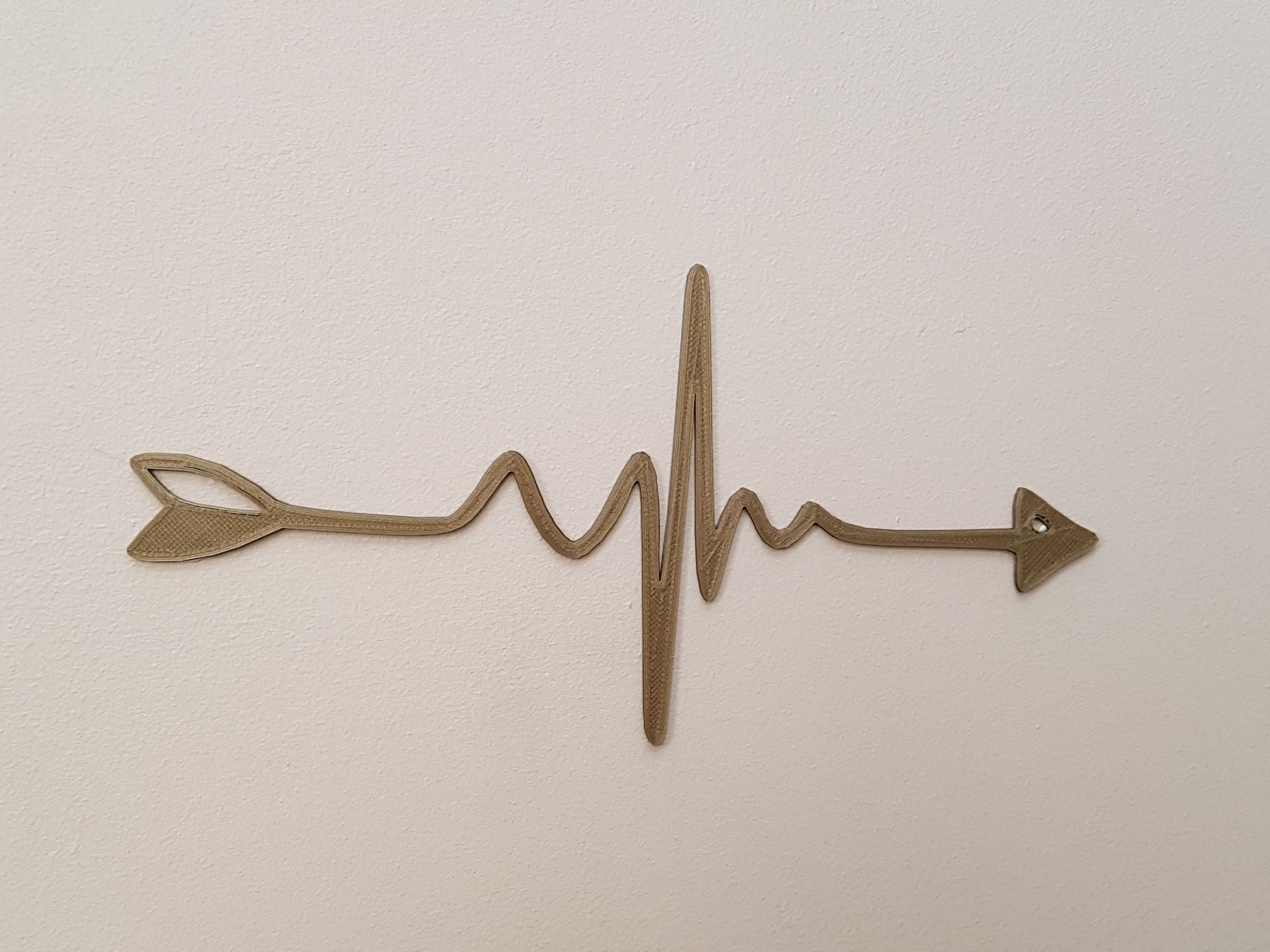 20190530_145004.jpg Download STL file my heartbeat = 4 heart lines • 3D printable object, catf3d