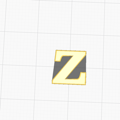 Capture d'écran (16).png Download free STL file LETTER Z OF THE ALPHABET (WITHOUT SUPPORT) • 3D print object, RZKGAMING
