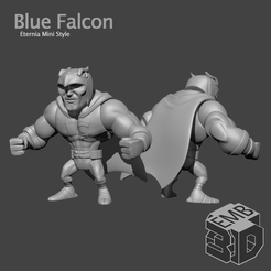 BlueFalcon.png Download STL file Blue Falcon Eternia Mini's Style • 3D printing design, emboyd