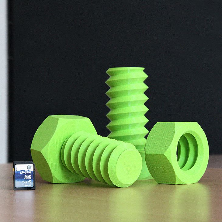 IMG_2376.jpg Download free STL file Screw and Nut • 3D printing design, Ysoft_be3D