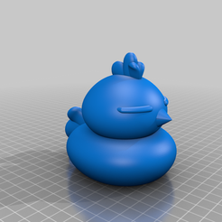 Won_Pucca_FDM_1.png Download free STL file Chicken (Won from the Pucca anime cartoon show) • 3D printing template, Jangie