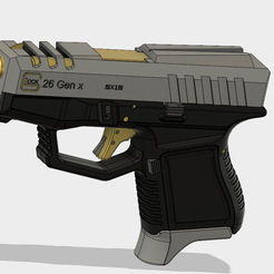 Glock 26 Gen x.PNG Download free STL file Glock 26 Gen x • 3D printable object, 3dprintcreation