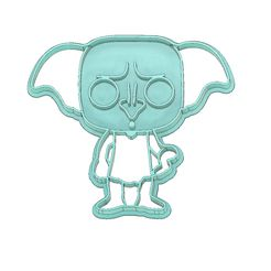 Harry-Potter-Doby-Cookie-Cutter.jpg Download STL file HARRY POTTER COOKIE CUTTER, DOBY COOKIE CUTTER, DOBY • 3D printable object, mipm