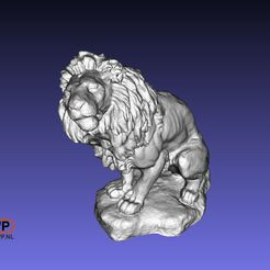 Lion.JPG Download free STL file Lion Sculpture (3D Scan) • Template to 3D print, 3DWP