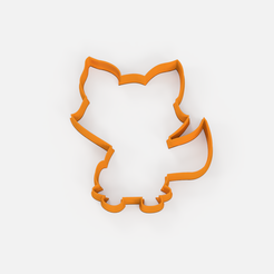 zorro contorno img.png Download free STL file Forest fox cookie cutter • 3D printable template, Abayarde
