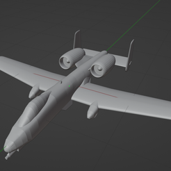 a10_thumbnail.PNG Download free STL file Fairchild Republic A-10A Thunderbolt II • 3D printable template, marcellom
