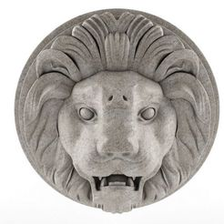 lion3.JPG Download free STL file Lion Sculpture Wall Hanger • 3D printing model, 3DWP