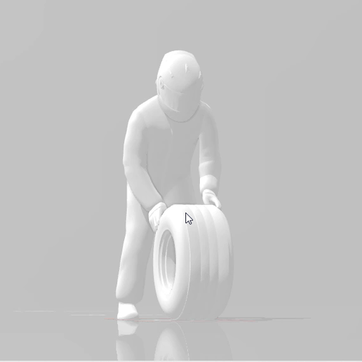 snapshot103.png Download STL file F1 Technician or Mechanic or Driver carrying a wheel • Model to 3D print, moviemasterdvd