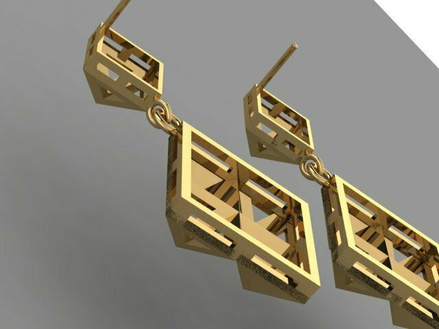 467.jpg Download 3DS file Gold Earring • Template to 3D print, Neel6462