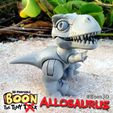 Boon_Allosaurus_2.jpg Download free STL file Boon the Tiny T. Rex: Allosaurus UpKit (Arms ONLY) - 3DKitbash.com • Model to 3D print, Quincy_of_3DKitbash