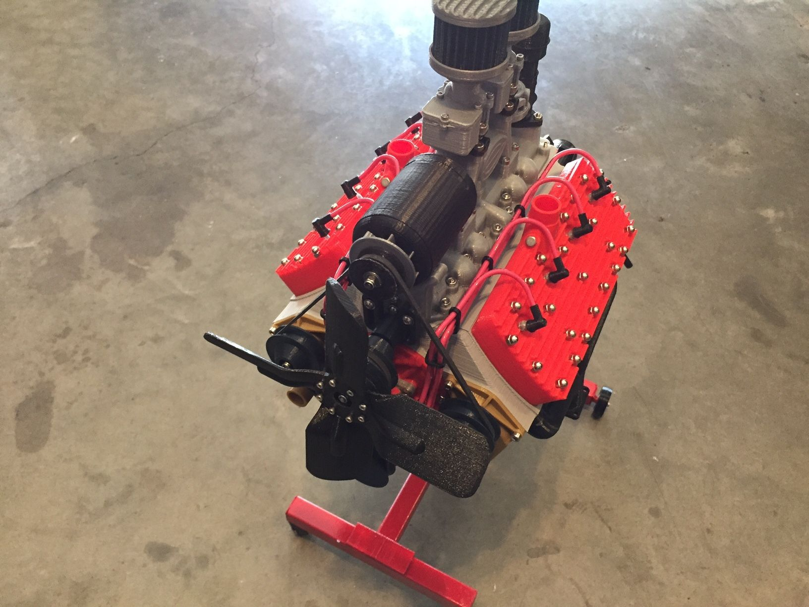IMG_0480.JPG Download free STL file Ford Flat Head V8 Working Model Engine • 3D print template, 3D_Printed_Engines