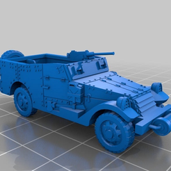 adcd72831bb882ac6d35b75f0966d6a9.png Download free STL file White M3 Scout Car [1:100 Scale] • 3D printing object, FoundryFifteen